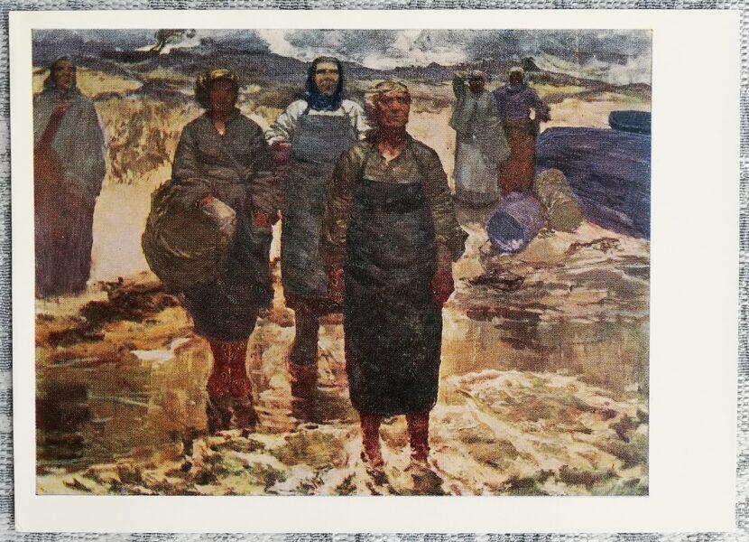 Edgars Iltners 1970. gads Vīri atgriežas 15x10,5 cm mākslas pastkarte