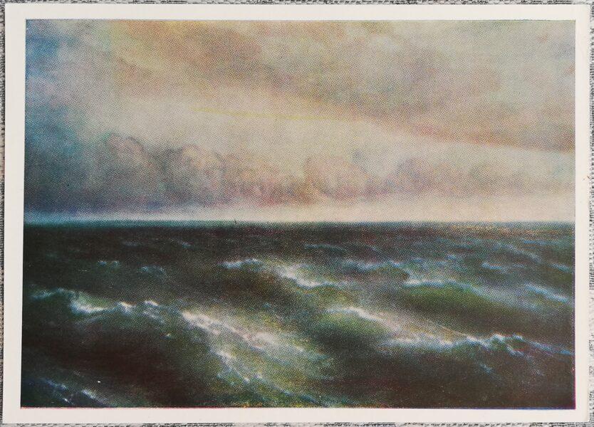 """Ivana Aivazovska 1960. gada """"Melnās jūras"""" pastkarte 15x10,5 cm"""