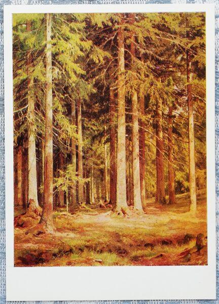 """Ivans Šiškins 1979 """"Egļu mežs"""" 10,5x15 cm"""
