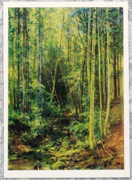 """Ivans Šiškins 1977 """"Apšu mežs"""" 10,5x15 cm"""