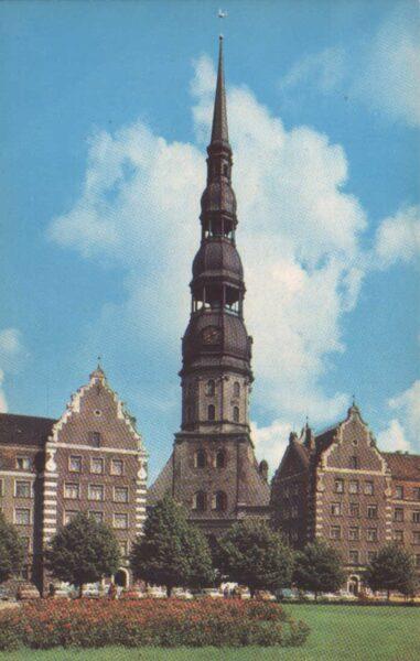 Latvija. Rīga. 1981. gads Pētera katedrāle. 9x14 cm.