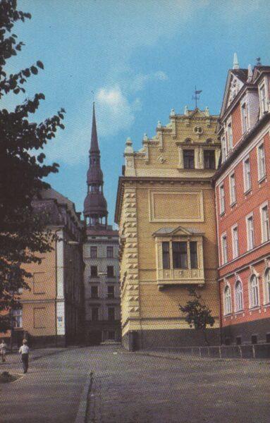 Latvija. Rīga. 1981. gads Vestures iela Vecrīgā. 9x14 cm.