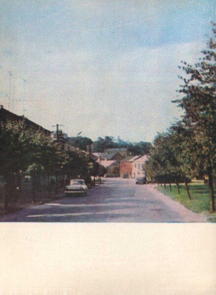 Lietuva. Telši 1975. gada pastkarte. Padomju laukums. 10x14 cm (LT: Telšiai)