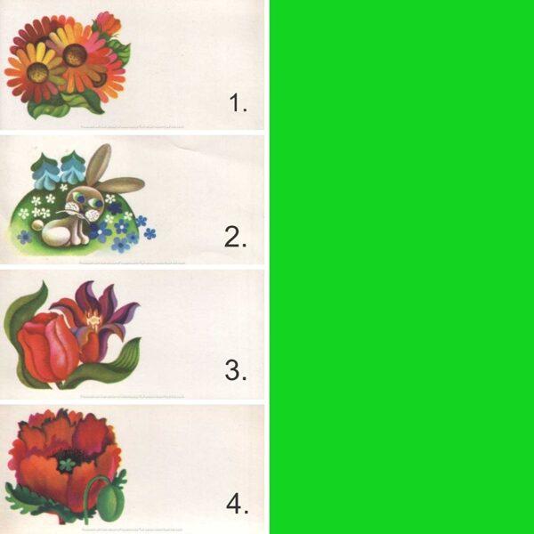 1979 mini greeting card 11,5x5,5 cm Riga typography