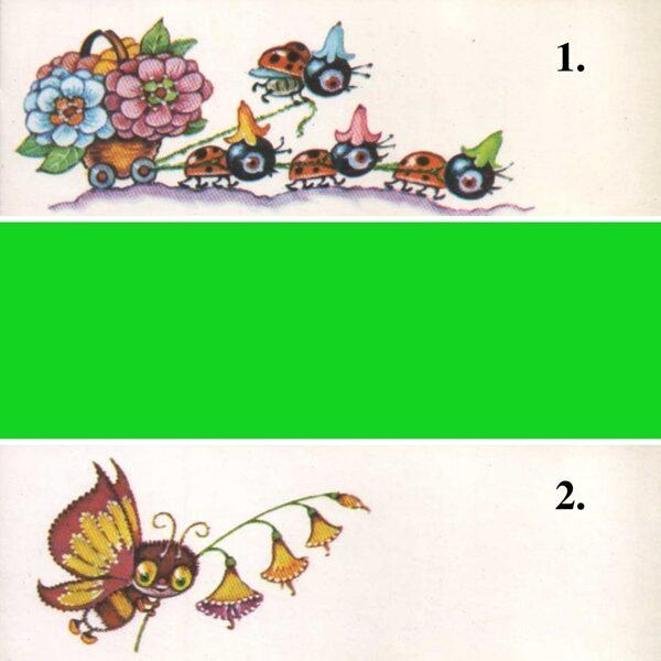 1986 mini greeting card 14,5x5 cm Margarita Staraste
