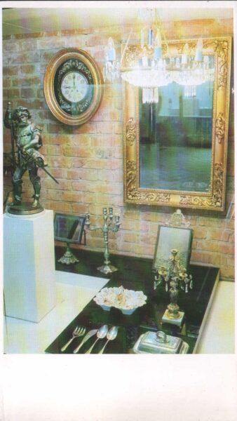 Lietuva. Traķi. 1981. gada pastkarte. Vēstures muzeja ekspozīcija. 9,5x16,5 cm