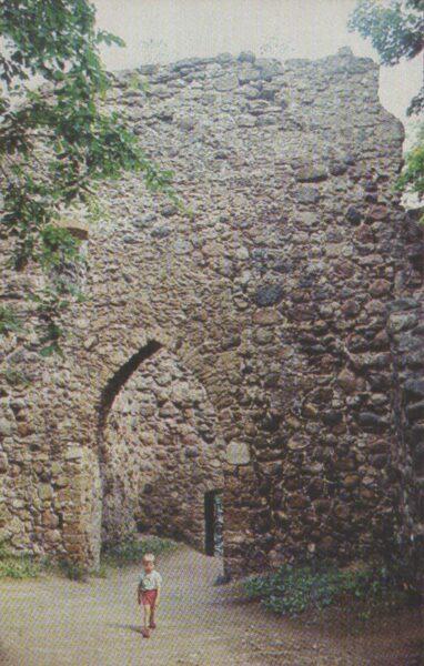 Sigulda 1981. gads Latvijas PSR. Siguldas pils drupas. 9x14 cm.