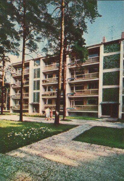Jūrmala 1965. gads Eksperimentāla dzīvojamā ēka Bulduros. 10x14 cm.