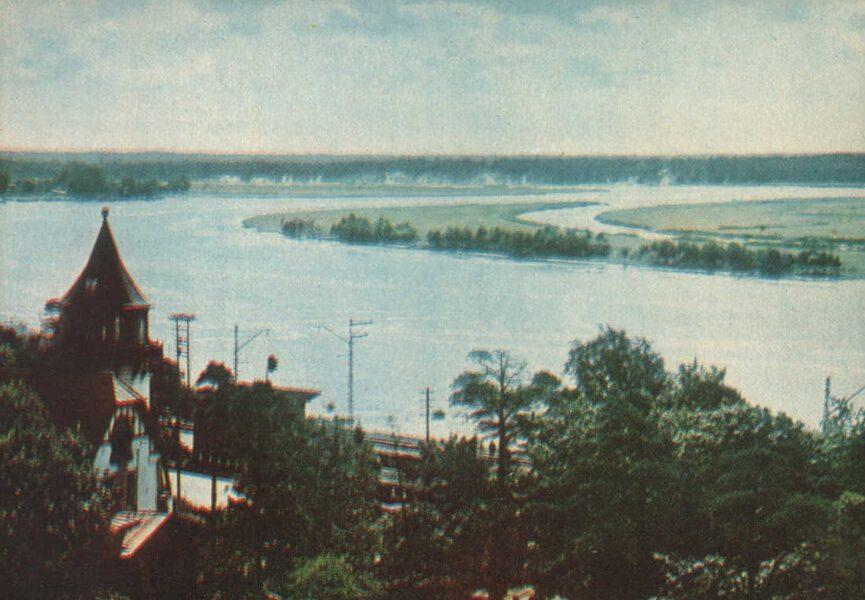 Jūrmala 1965. gads Lielupes upe pie Majoru stacijas. 14x10 cm.