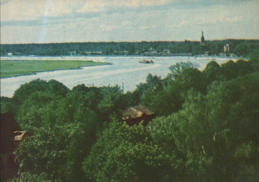 Jūrmala 1965. gads Lielupes upe starp Majoriem un Dubultiem. 14x10 cm.