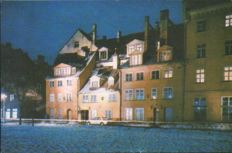 Latvijas PSR foto. Rīga. Skvērs Meistaru ielā. 1974. gads 14x9 cm.